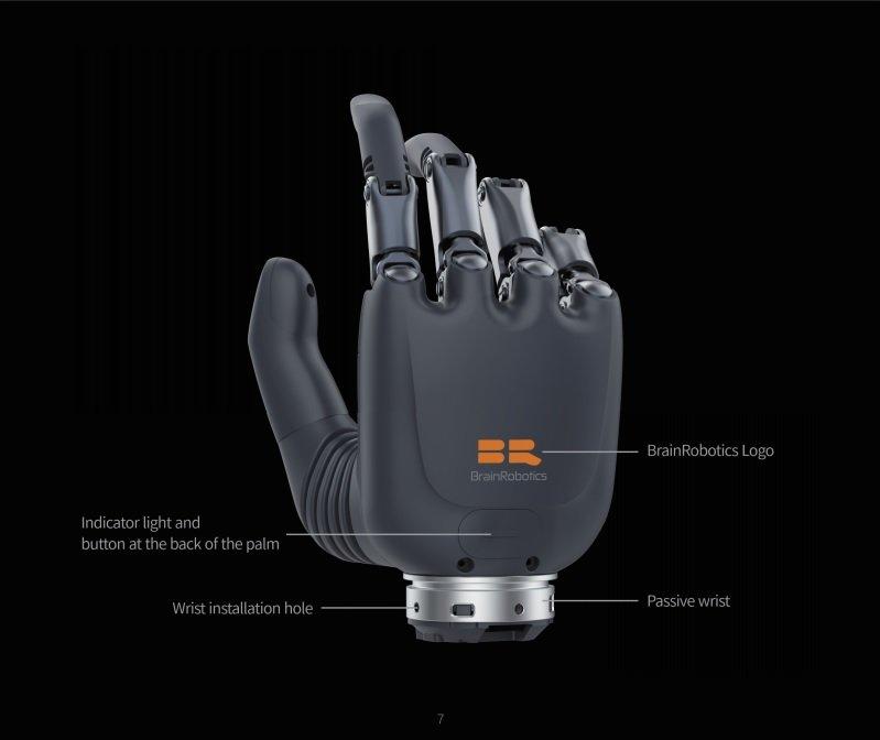 BrainRobotics prosthetic hand